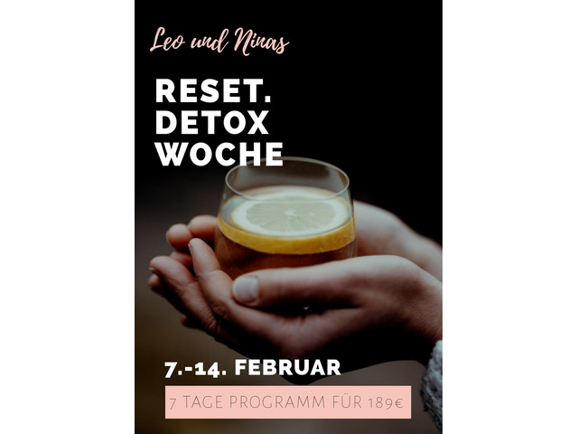 Reset. Detox Woche Online 7. bis 14.2